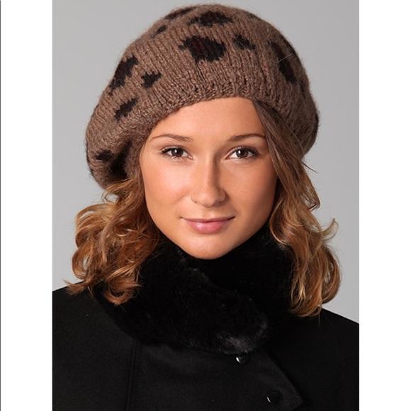 Eugenia Kim Accessories - Eugenia Kim Baby Alpaca Leopard Print Beret Hat dfba1132527